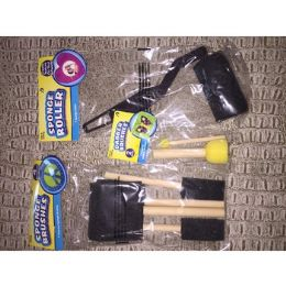 96 Units of Assortment Of Sponge Brushes And Rollers - Paint and Supplies