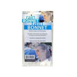 72 Units of Bouffant Style Rain Bonnet - Umbrellas & Rain Gear