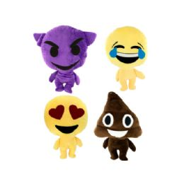 24 Units of Emoticon Stuffed Plush Character - Plush Toys