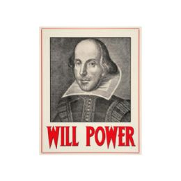 54 Units of Will Power Metal Wall Sign - Home Decor