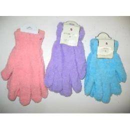 144 Units of Women's Fuzzy Gloves - Fuzzy Gloves