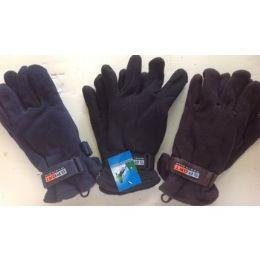 144 Units of Men's Fleece Gloves - Fleece Gloves