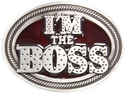 24 Units of Im The Boss Belt Buckle - Belt Buckles