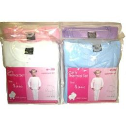 48 Units of GIRLS THERMAL UNDERWEAR SET - Girls Underwear and Pajamas