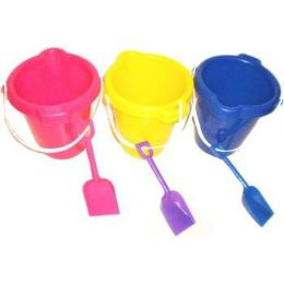 96 Units of PLASTIC BEACH PAIL AND SHOVEL SET - Beach Toys