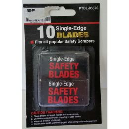 72 Units of 10 Pack SinglE-Edge Blades - Box Cutters and Blades