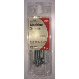75 Units of 5 PCS MACHINE SCREWS ROUND HEAD SLOTTED #10 - Drills and Bits