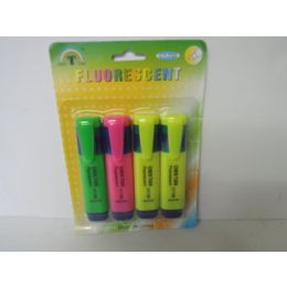 144 Units of 4 Piece Highlighter Set - Markers and Highlighters