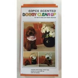48 Units of SCENTED DOGGY CLEAN UP BAGS - Pet Collars and Leashes