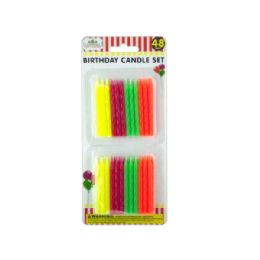 72 Units of Colored Birthday Candle Set - Birthday Candles
