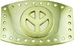 24 Units of Peace Sign Belt Buckle - Belt Buckles