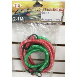 72 Units of 2 Pack Bungee Cords - Bungee Cords