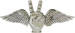 24 Units of Winged Peace Sign Belt Buckle - Belt Buckles