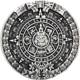 24 Units of Aztec Calendar Belt Buckle - Belt Buckles