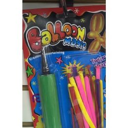 72 Units of LONG BALLOONS WITH PUMP - Balloons/Balloon Holder