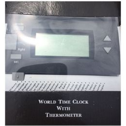 48 Units of WORLD TIME CLOCK WITH THERMOMETER - Thermometer