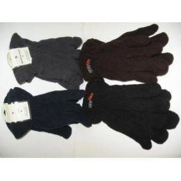 120 Units of Men's Fleece Winter Gloves - Fleece Gloves