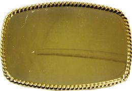 24 Units of Plain Golden Belt Buckle - Belt Buckles