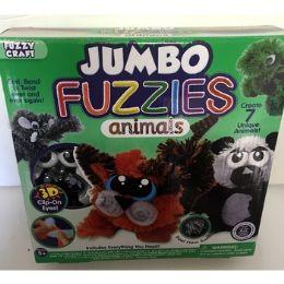 24 Units of JUMBO FUZZIES ANIMALS BENDABLE TOY - Animals & Reptiles
