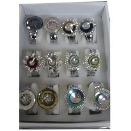 36 Units of WOMEN'S ASSORTED BANGLE WATCHES WITH STONES - Women's Watches