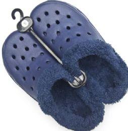 48 Units of MEN'S WINTER FUR LINED CLOG SLIP-ONS - Men's Flip Flops and Sandals