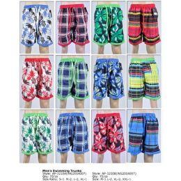 72 Units of Men's Swimming Shorts W/mesh Lining And Pockets - Mens Shorts