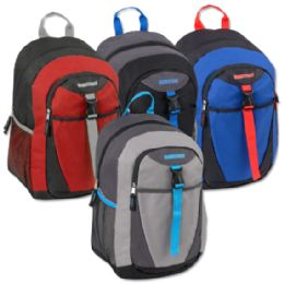 """24 Units of 18 Inch Clip Pocket Backpacks With PaddinG- Boys - Backpacks 15"""" or Less"""