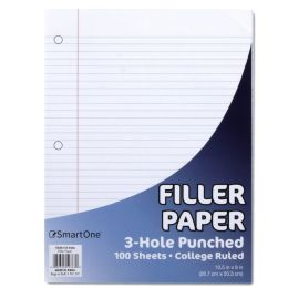 48 Units of Filler Paper - College Ruled 100 Sheets - Paper