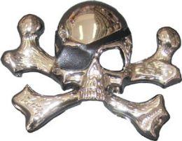 24 Units of Pirate Skull And Cross Bones Belt Buckle - Belt Buckles