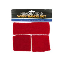 36 Units of Athletic Headband & Wristbands Set - Workout Gear