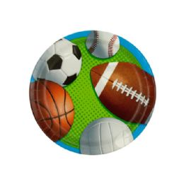 108 Units of Small Celebrate Sports Party Plates Set - Party Paper Goods