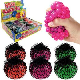 96 Units of Mesh Grape Squeeze Stress Ball - Balls