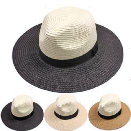 24 Units of MEN SUMMER HAT ASSORTED COLORS - Cowboy & Boonie Hat