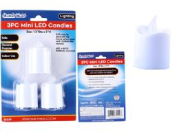 96 Units of Led Mini Candle 3 Piece - Candles & Accessories