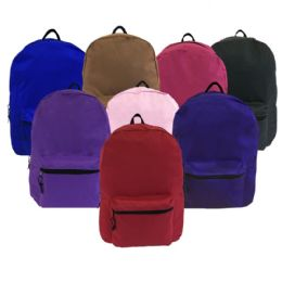 """24 Units of 15"""" Backpack In Asst Colors - Backpacks 15"""" or Less"""