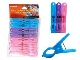 96 Units of 5pc Jumbo Clothespins - Clothes Pins