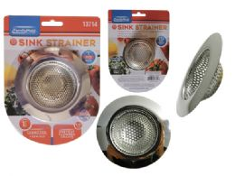 """96 Units of 1pc Sink Strainer, 3.54"""" Dia - Strainers & Funnels"""