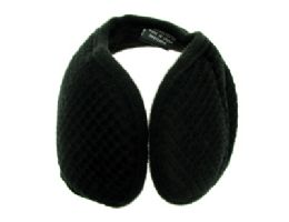 48 Units of Earmuffs with a band that goes behind the head with a diamond shaped design print - Ear Warmers