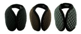 48 Units of Earmuffs with a band that goes behind the head with an X shaped design print - Ear Warmers