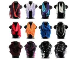 24 Units of Assorted Fashion Scarves - Womens Fashion Scarves