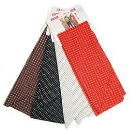 72 Units of PolkA-Dot Print Scarves - Womens Fashion Scarves