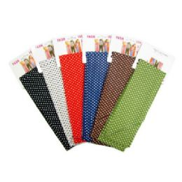 72 Units of Assorted Color PolkA-Dot Print Scarves - Womens Fashion Scarves