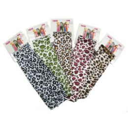 72 Units of Animal Print Fashion Scarves In Assorted Colors - Womens Fashion Scarves