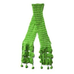 12 Units of Lime Green Knit Scarves - Womens Fashion Scarves