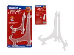 96 Units of 2 Piece Display Easels - Paint, Brushes & Finger Paint
