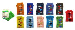 48 Units of Assorted colored capri tights with star designs in a scattered line - Womens Tights