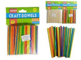 144 Units of 100 Piece Craft Dowels - Craft Wood Sticks and Dowels