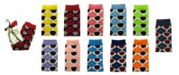 48 Units of Assorted Colored Thigh High Socks With Argyle Print - Womens Knee Highs