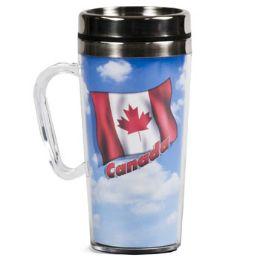 40 Units of Travel Mug 16oz Canada Insulated Acrylic Ss Insert - Coffee Mugs