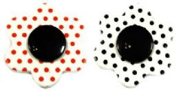 36 Units of Polka Dot Flower Pins - Jewelry & Accessories